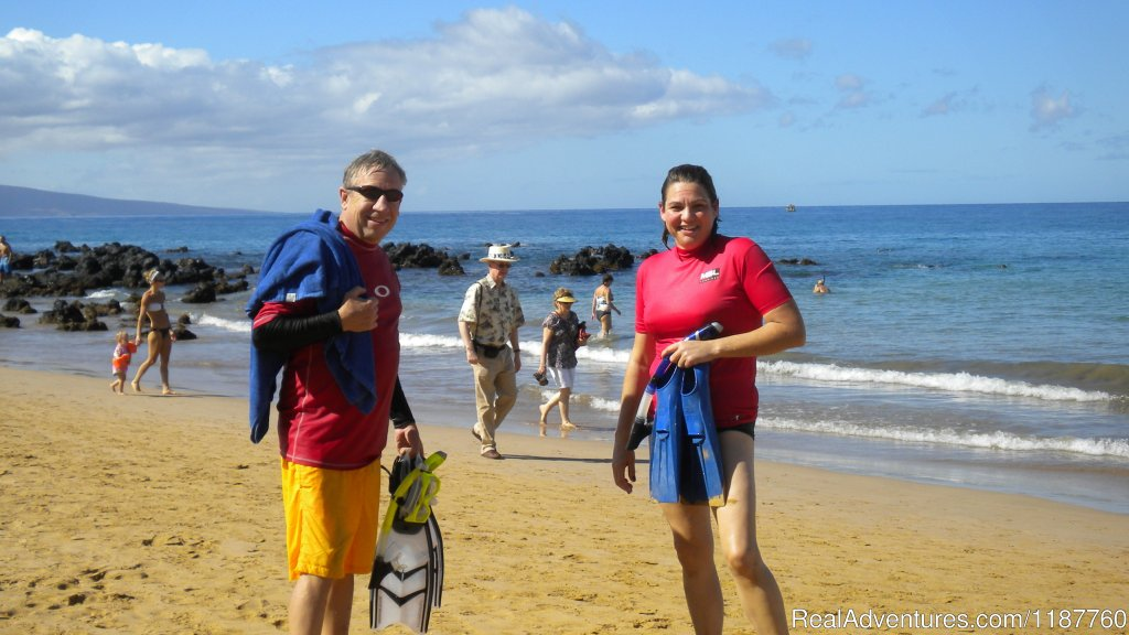 Snorkeling from sandy beach | Image #2/4 | Maui Condo,Sandy Beach,Oceanfront Vacation Rental