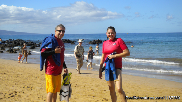 Snorkeling from sandy beach - Maui Condo,Sandy Beach,Oceanfront Vacation Rental