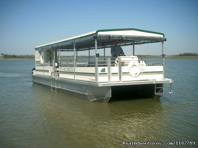 40' X 12' ''See Breeze' Motor Catamaran - Party Boat Rentals on Lake Lewisville, TX