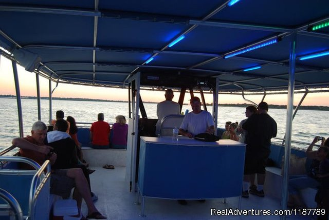 26' X 8.5' Tritoon Motor Catamaran (#3 of 12) - Party Boat Rentals on Lake Lewisville, TX