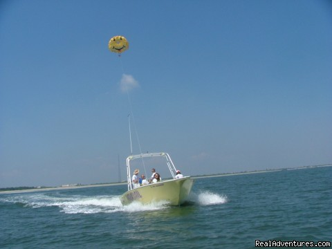 Going UP!!! - Parasailing In Historic Cape May, N.J. with E.C.P