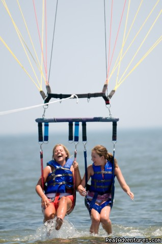 Getting a few DIPS !!!!! - Parasailing In Historic Cape May, N.J. with E.C.P