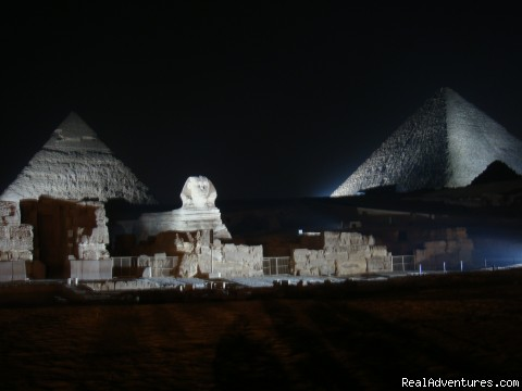 The Pyramids by night - No one knows Egypt Like us