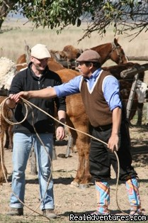 Learning gaucho skills - Unique Argentine Estancia