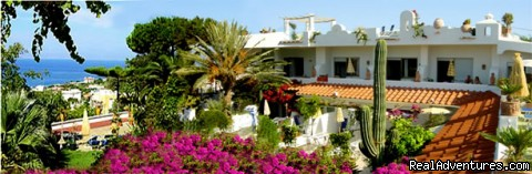 front view main building - Apartments in a Botanical Garden, Ischia (Amalfi)