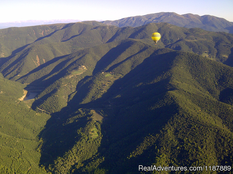 Balloon fly over the Montseny Natural Park