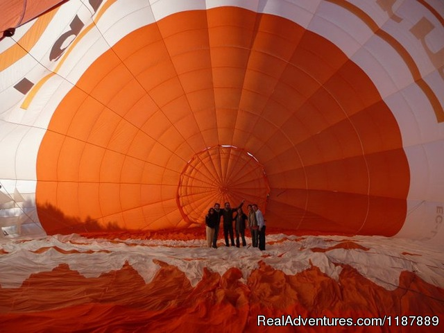 Inside the balloon enveloppe - Hot air balloon flights from Barcelona, Spain
