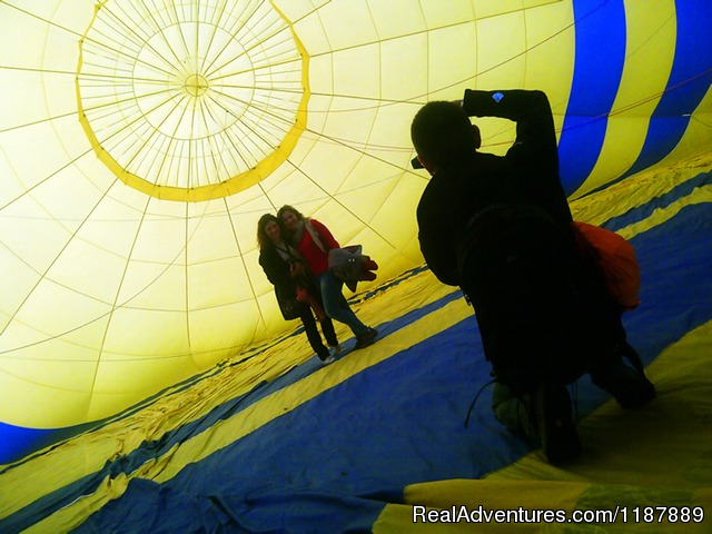 Taking pictures inside the balloon (#2 of 21) - Hot air balloon flights from Barcelona, Spain