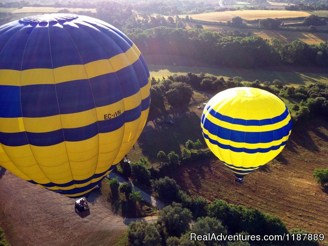 Balloon flight at take off from Cardedeu - Hot air balloon flights from Barcelona, Spain