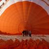 Inside the balloon enveloppe