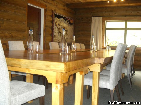 Formal Dining Room - Beachfront Hunting Fishing Loghouse