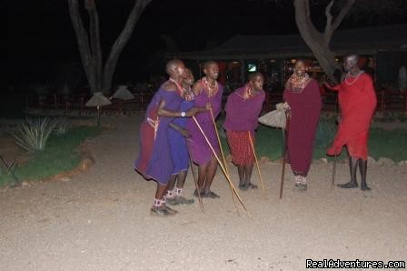 Masai dance,Kibo safari camp,Amboseli national park - Kenya safari tour operator for Nairobi and Mombasa