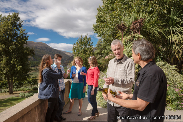 Relaxed wine tasting at Chard Farm - Queenstown Wine Trail - wine tours New Zealand