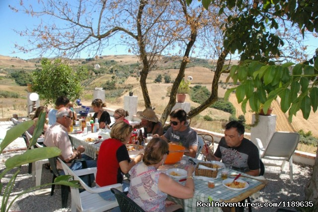 BBQ on our terrace - Sicily - Horse Riding and Activity Holidays