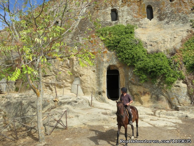 Riding to the pre-historic Gurfa caves - Sicily - Horse Riding and Activity Holidays