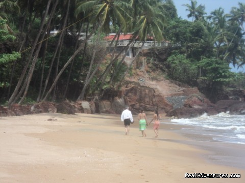 Beach In front - Seashell Beach resort, Romantic Weekend Getaways A