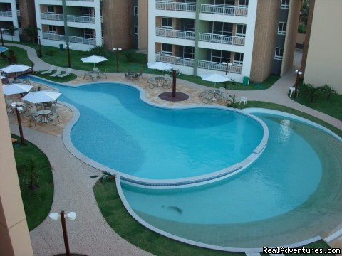 Pool area  - Fortaleza Brazil Beachfront Penthouse Condo