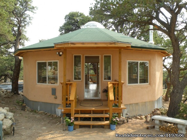Geodesic Sacred Space available to guests - Enchanted Forest Accommodations Crestone CO