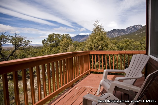 Private balcony off Luxury Suite in Main House - Enchanted Forest Accommodations Crestone CO