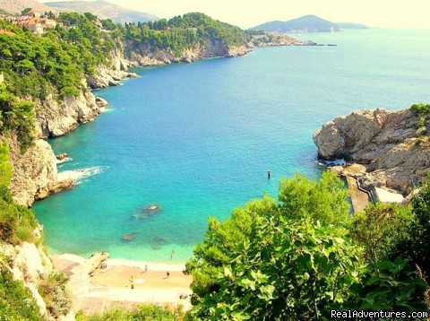 Romantic Holidays At Dubrovnik Apartments Kovacec: beach below apartments