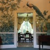 Hand painted elliptical entrance hall.