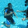 Scuba Diving In Krabi Thailand Learning to dive in the pool