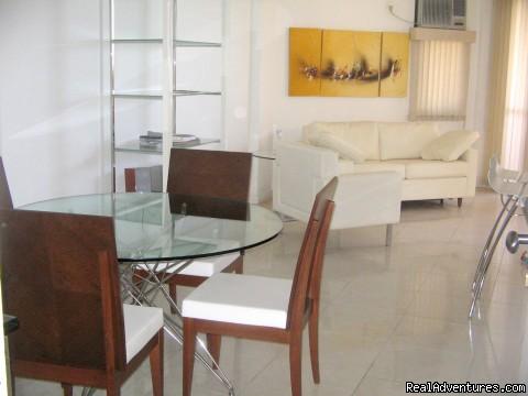 Rio De Janeiro - Beach View Apartment - Furnished living room
