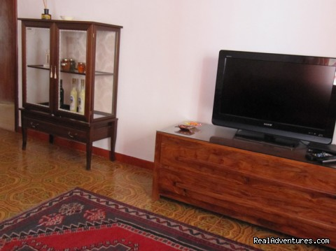 flat screen TV - Il PESCO, a Mediterranean Style Apartment