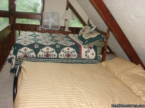 loft with extra sleeping area | Image #5/21 | Charming Chalet with HUGE Deck
