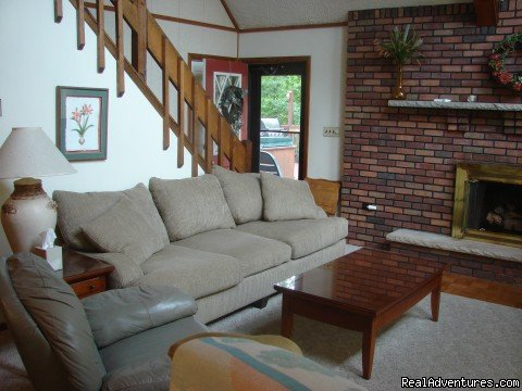 comfortable seating | Image #10/21 | Charming Chalet with HUGE Deck