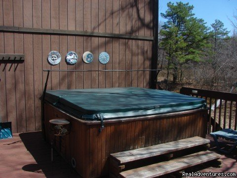 hot tub | Image #17/21 | Charming Chalet with HUGE Deck