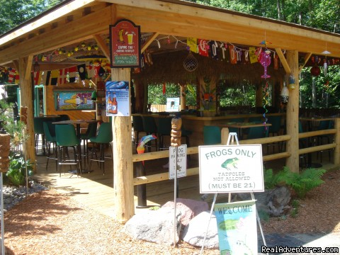 The Outdoor Frog Tiki Bar - Romantic Couples Resort