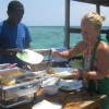 BBQ lunch on Board Mnemba Atoll snorkeling Trips.