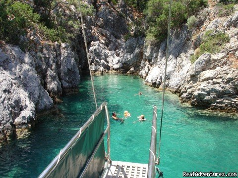 Swimming in an idyllic cove, Turkey | Image #12/23 | Archaeological Tours, Gulet Cruises and Charters