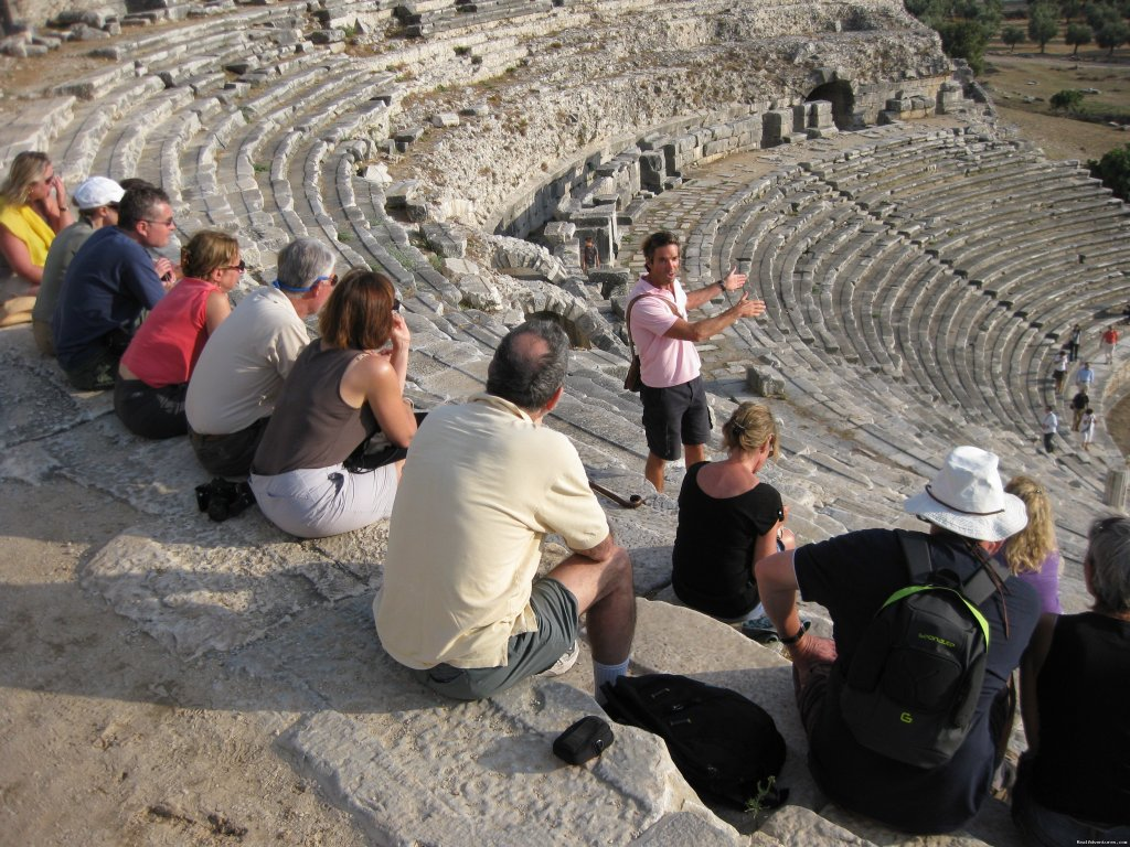 Tour guide and group in theatre, Turkey | Image #22/23 | Archaeological Tours, Gulet Cruises and Charters