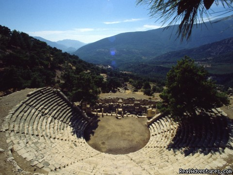 Ancient theatre at Arykanda in Lycia, Turkey - Archaeological Tours, Gulet Cruises and Charters