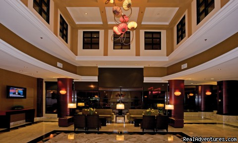 The Atrium at Night - Holiday Inn San Francisco International Airport