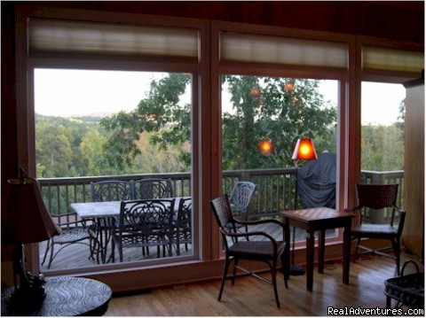 View from Den including TV/Cable/DVD/Stereo - Bear's Den Luxury Home Rental in Big Canoe