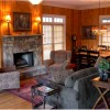 Bear's Den Luxury Home Rental in Big Canoe Gas Log Fireplace Den with Dining room for 8 people
