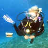 Diver and Jelly fish