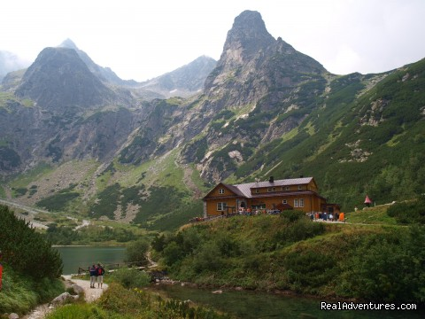 Chalet at the Green mountain lake in the High Tatras - Adventure Hiking & Trekking in Slovakia