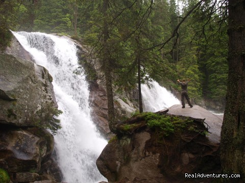 Waterfalls of Studeny potok in the High Tatras - Adventure Hiking & Trekking in Slovakia