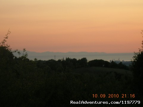 Corsica Island from the farmhouse - Holiday apartment Tuscany coast near Pisa