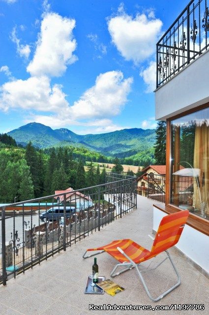 Relax on the terrace and enjoy the fresh mountain air... (#2 of 18) - Luxury Holiday Villa in a Private Mountain Resort