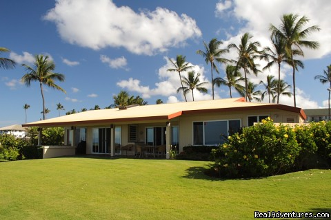 Wailele Beach Home on Maui view from ocean back to home - Wailele Ocean Front Beach Home-Maui