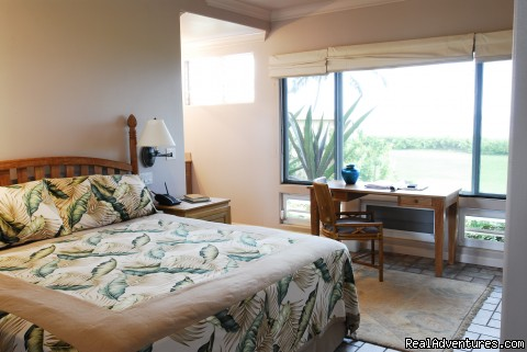 south bedroom has king bed and adjoining bath - Wailele Ocean Front Beach Home-Maui
