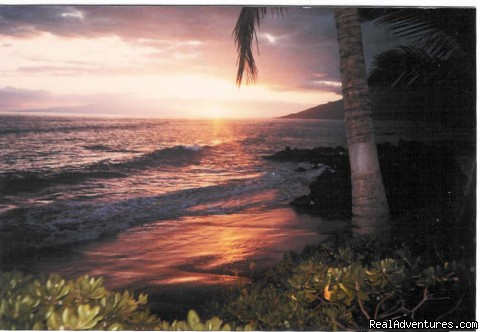 Wailele views west, sunsets are magnificent - Wailele Ocean Front Beach Home-Maui