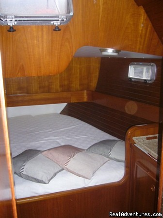 Double Cabin plus en-suite toilet/shower - Sailing & Yoga - Turkey onboard 47ft Private Yacht