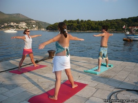 Yoga ashore - Sailing & Yoga - Turkey onboard 47ft Private Yacht