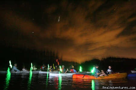 Launching a Bioluminescent Tour - A Day Away Kayak Tours